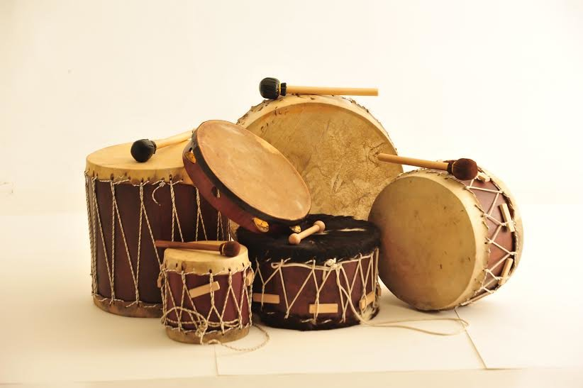 Percussion instruments with indistinct pitch